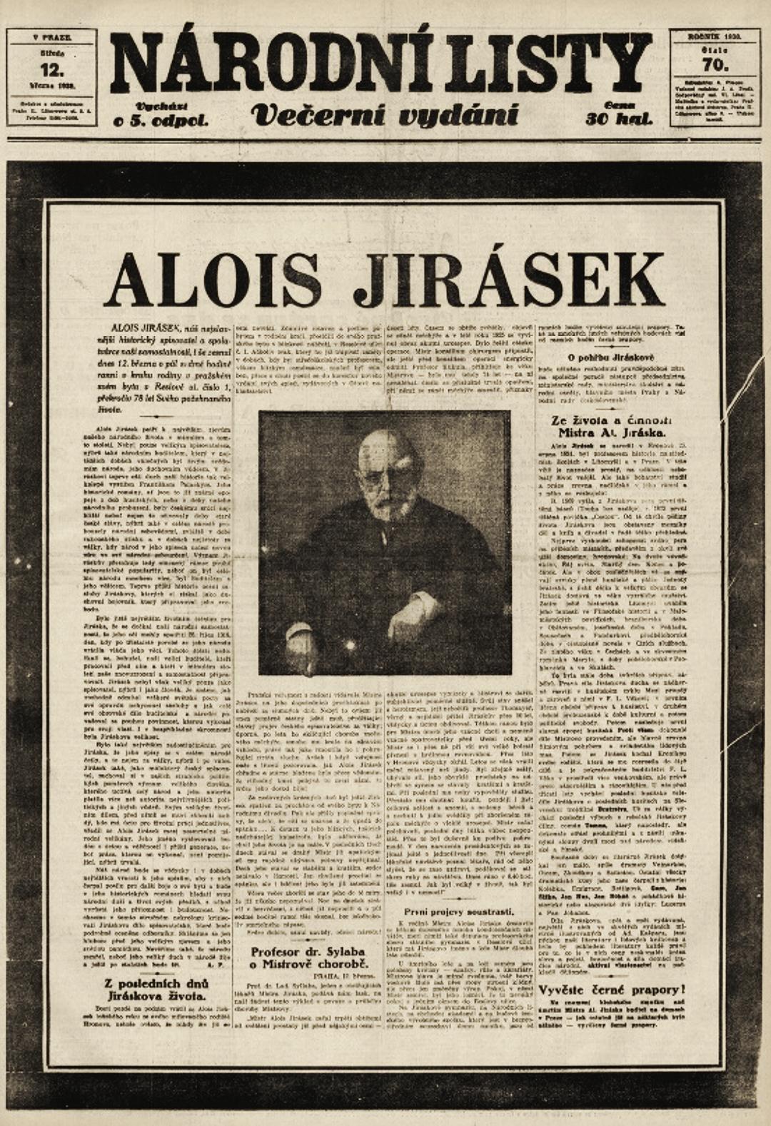 Oznámení v novinách