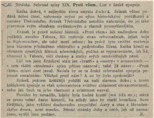 """Revue 10/2021 """"Masarykova recenze Proti všem"""""""